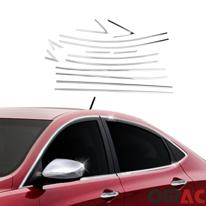 Fits Hyundai Accent 2012-2017 Chrome Window Frame Trim Cover Moulding S.Steel