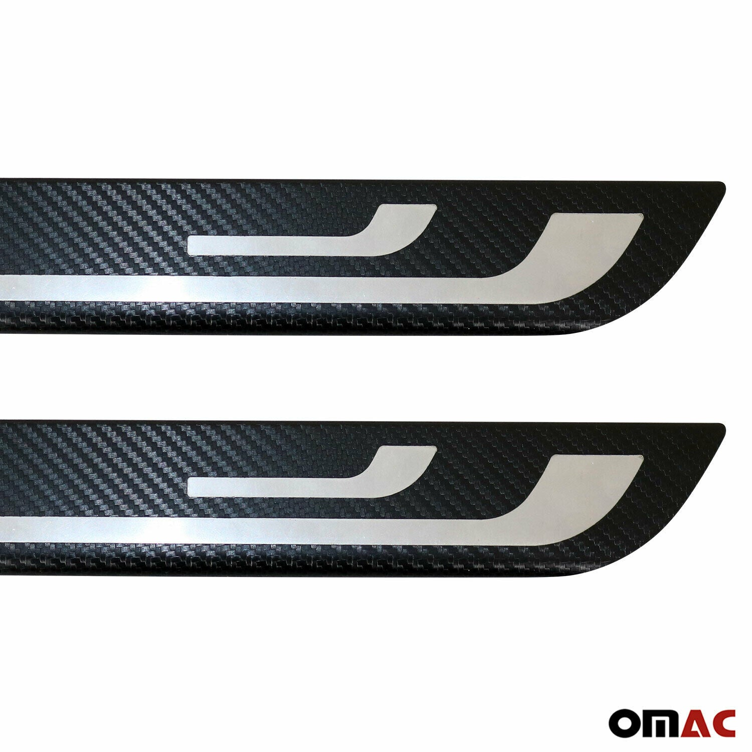 Carbon Foiled Door Sill Scuff Plate Guard Trim for Alfa Romeo Mito 2008-2018