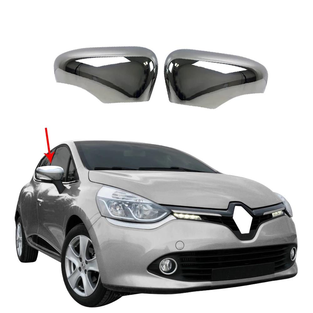 Fits Renault Clio 2012-2018 Stainless Steel Chrome Side Mirror Cover Cap 2 Pcs