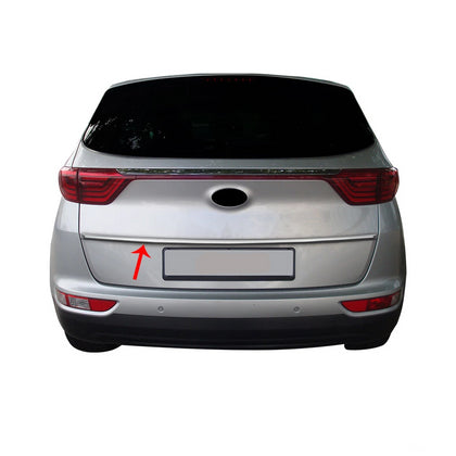 Chrome Rear Tailgate Trunk Lid Protect Trim S.Steel Fits Kia Sportage IV 2016+ Omac Shop Usa - Auto Accessories