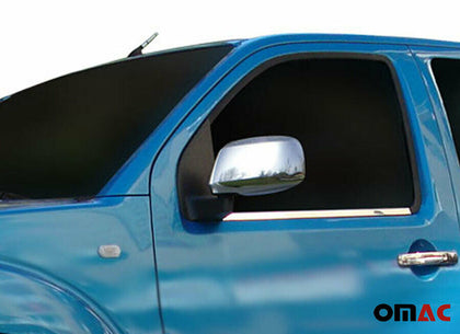 Fits Nissan Xterra 2007-2015 Stainless Steel Chrome Side Mirror Cover Cap 2 Pcs Omac Shop Usa - Auto Accessories