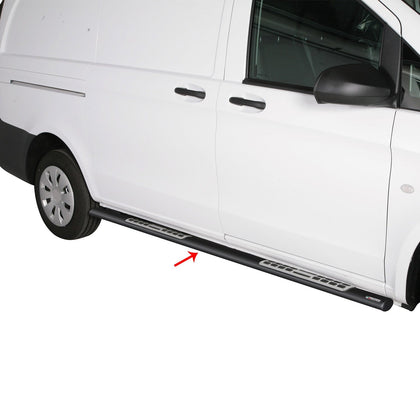 Fits Mercedes Metris Short Wheelbase 2016-2020 Black Running Boards Side Steps - Omac Shop Usa - Auto Accessories