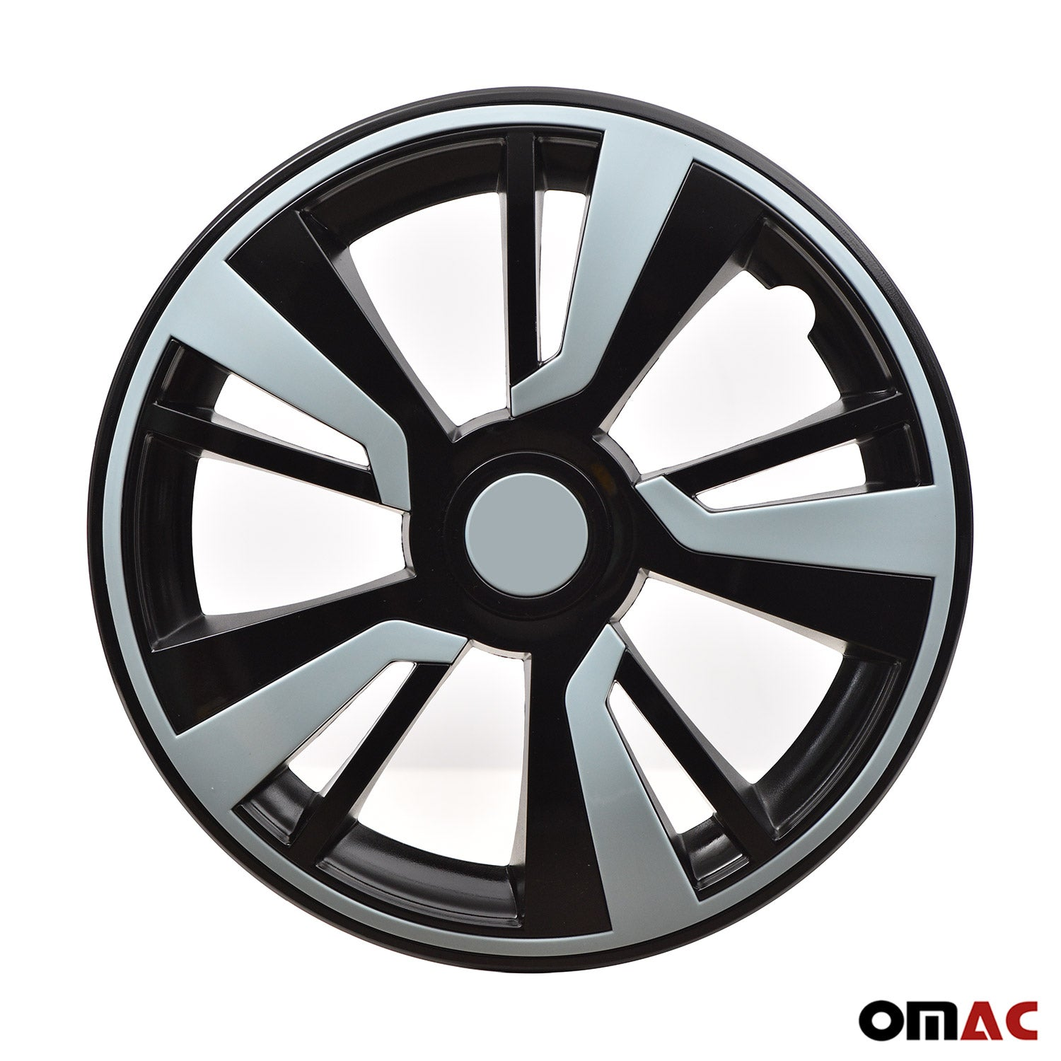 "14"" Hubcaps Wheel Rim Cover Black with Light Blue Insert 4pcs Set For Nissan"