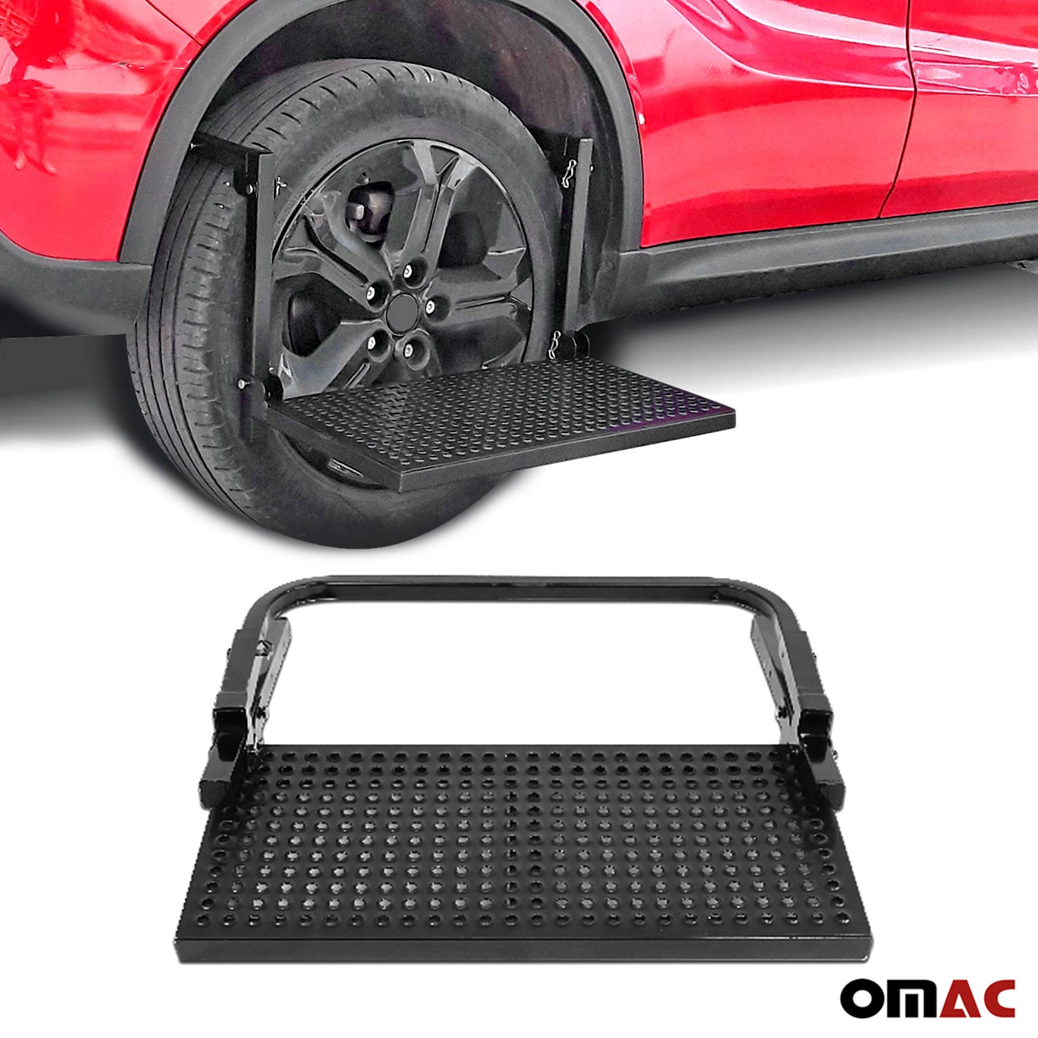 220Lbs Adjustable Tire Wheel Step Platform Folding Non Slip For Jeep Cherokee
