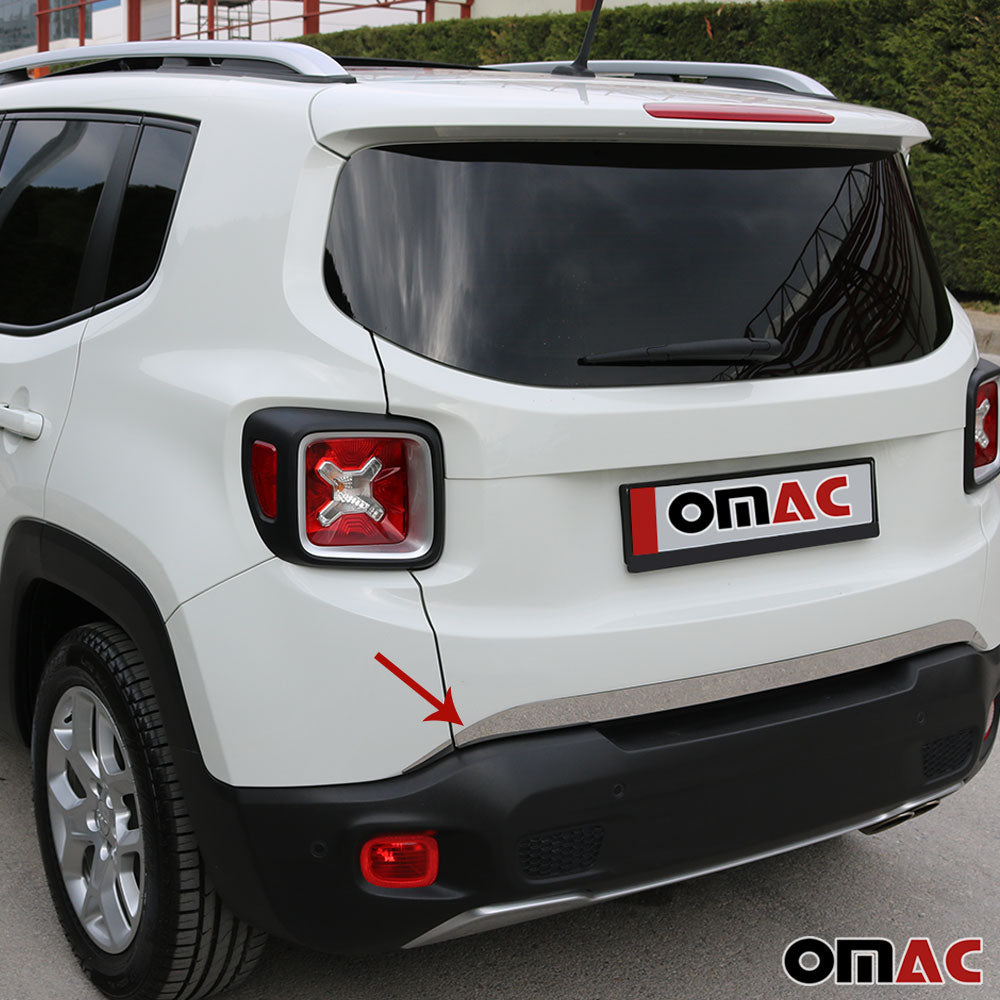 Chrome Lower Trunk Tailgate Trim Moulding S.Steel for JEEP Renegade 2015-2020