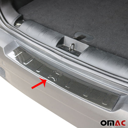 Fits JEEP Renegade 2019-2020 Carbon Fiber Rear Bumper Guard Trunk Sill Protector Omac Shop Usa - Auto Accessories
