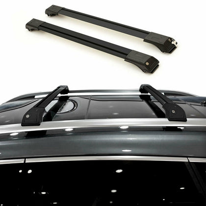 Roof Rack Cross Bars Luggage Carrier Alu Black Fits Mercedes ML 164 2006-2011