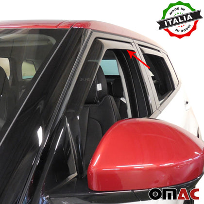 Omac usa - Side Window Smoke Vent Visor Rain Guards Deflector for LAND ROVER EVOQUE 2011- - Omac Shop Usa - Auto Accessories