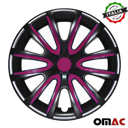 16 Inch Hubcaps Wheel Rim Cover Glossy Black with Violet for Kia Optima 4pcs Set Omac Shop Usa - Auto Accessories