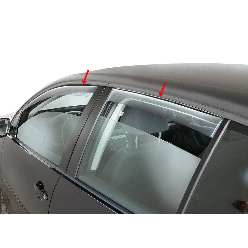 Window Visor Vent Sun Shade Rain Guard 4pcs Fits Audi A3 Sportback 2015-2019
