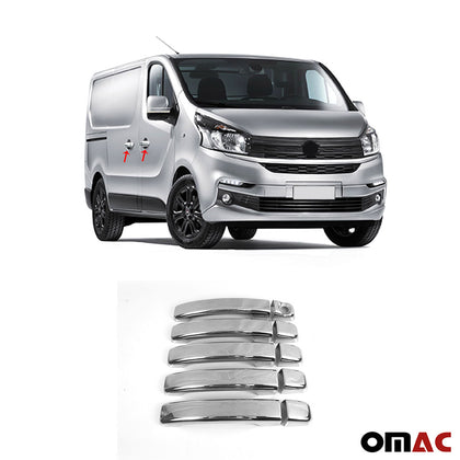 Fits Fiat Talento 2016-2019 Chrome Side Door Handle Cover S.Steel 4 Pcs Omac Shop Usa - Auto Accessories