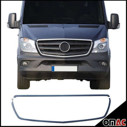 Fits Mercedes Sprinter W906 2014-2018 Chrome Front Grill Frame Trim Stainless Omac Shop Usa - Auto Accessories