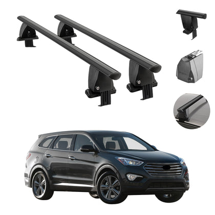 Fits Hyundai Santa Fe 2013-2018 Black Smooth Roof Rack Cross Bar Cargo Carrier