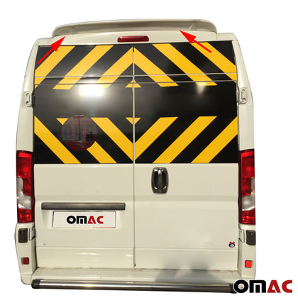 Omac usa - RAM PROMASTER FIAT DUCATO Rear Trunk Spoiler Wing Primed Unpainted Top Styling - Omac Shop Usa - Auto Accessories