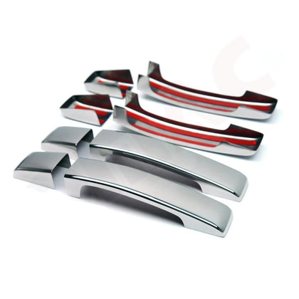 Fits Land Rover LR2 2008-2015 Chrome Stainless Door Handle Cover Protector Set Omac Shop Usa - Auto Accessories
