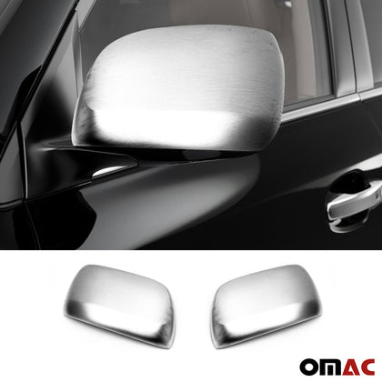 Fits Toyota Land Cruiser 2008-2019 Brushed Side Mirror Cover Cap Set W/O Signal Omac Shop Usa - Auto Accessories