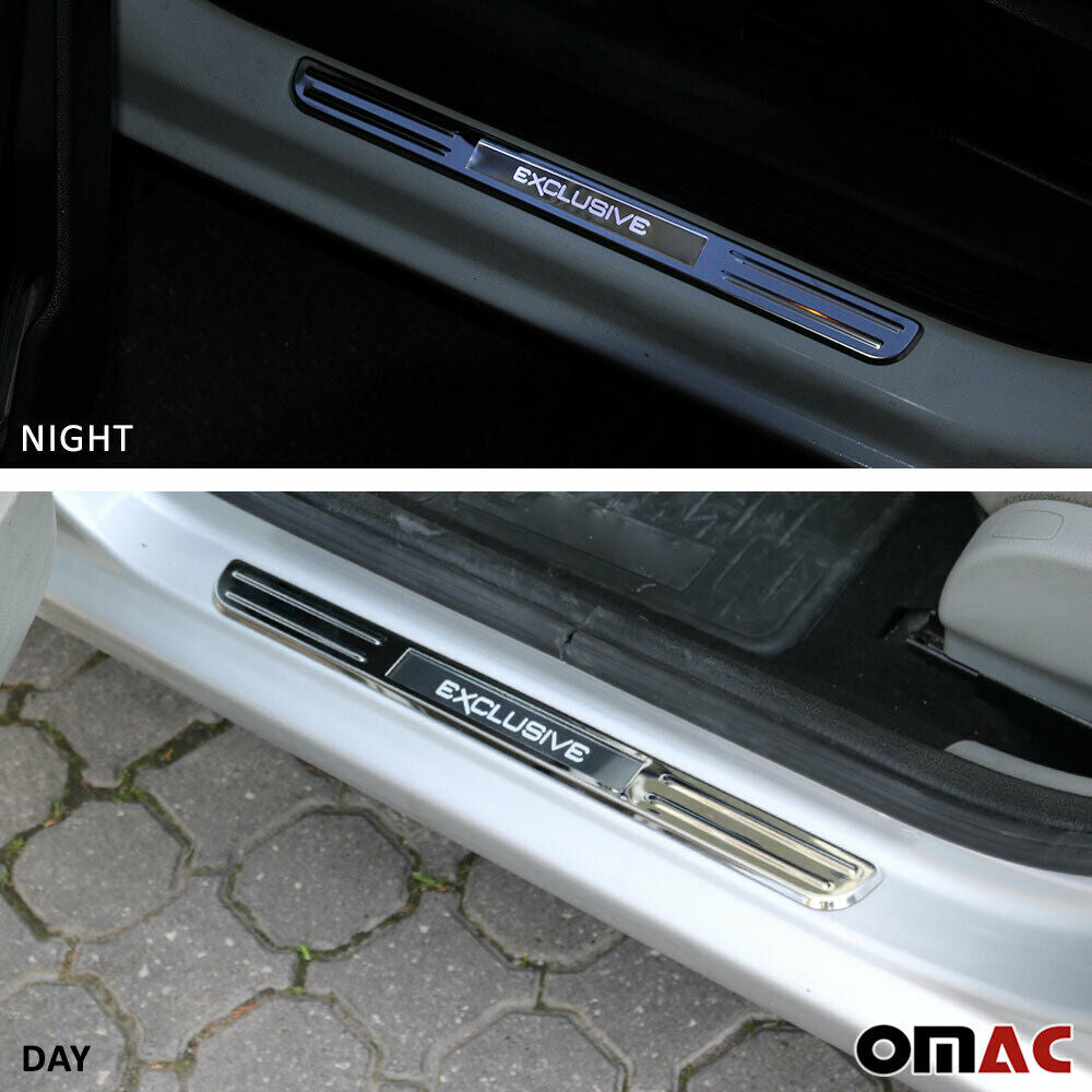 Chrome LED Door Sill Cover Stainless Steel Exclusive 2 Pcs For BMW i8