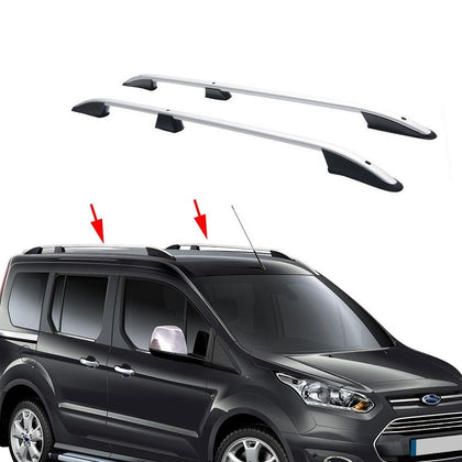 Roof Rack Rails Factory Fixing Points Black for SWB Ford Transit Connect 2014-20