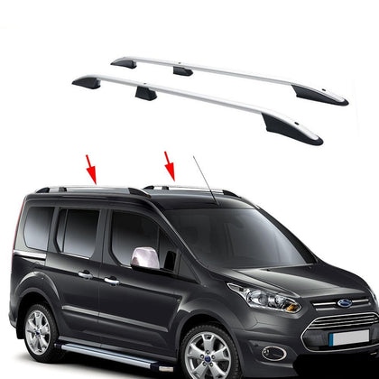 Top Roof Rack Side Rails Bars Alu For Ford Connect 2 Short Wheel Base 2014-2020