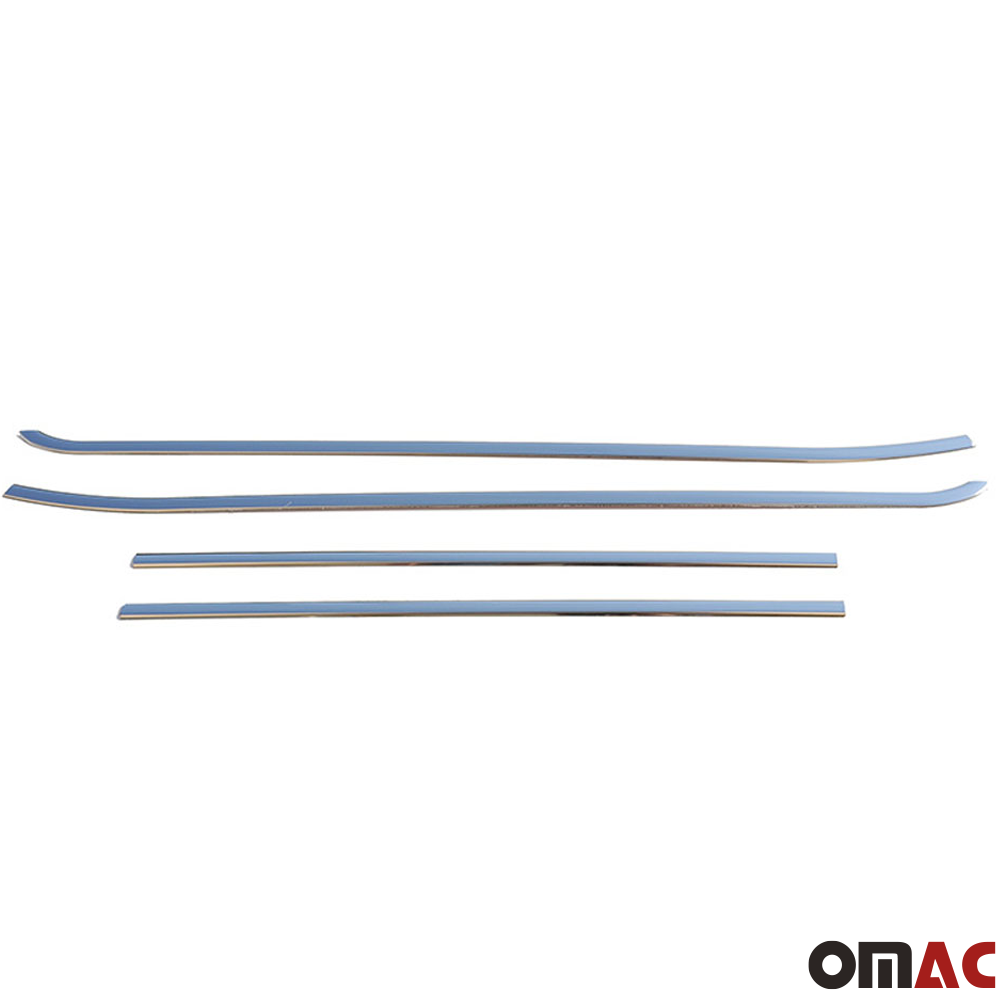 For RAM Promaster City 2015-2020 Chrome Lower Window Frame Trim S.Steel 4 Pcs