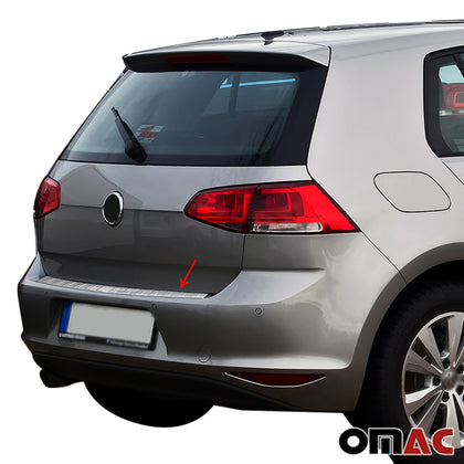 Fits VW Golf Mk7 2015-2020 Brushed Chrome Rear Bumper Trunk Sill Cover S.Steel Omac Shop Usa - Auto Accessories