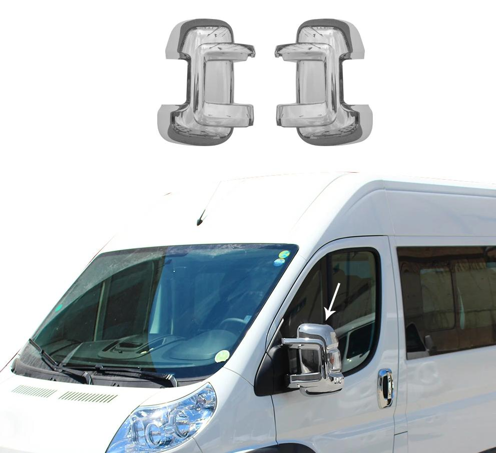 Fits RAM Promaster 3500 2014-2020 Chrome Side Mirror Cover Cap 2 Pcs