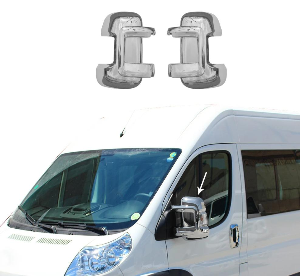 Fits RAM Promaster 2500 2014-2020 Chrome Side Mirror Cover Cap 2 Pcs