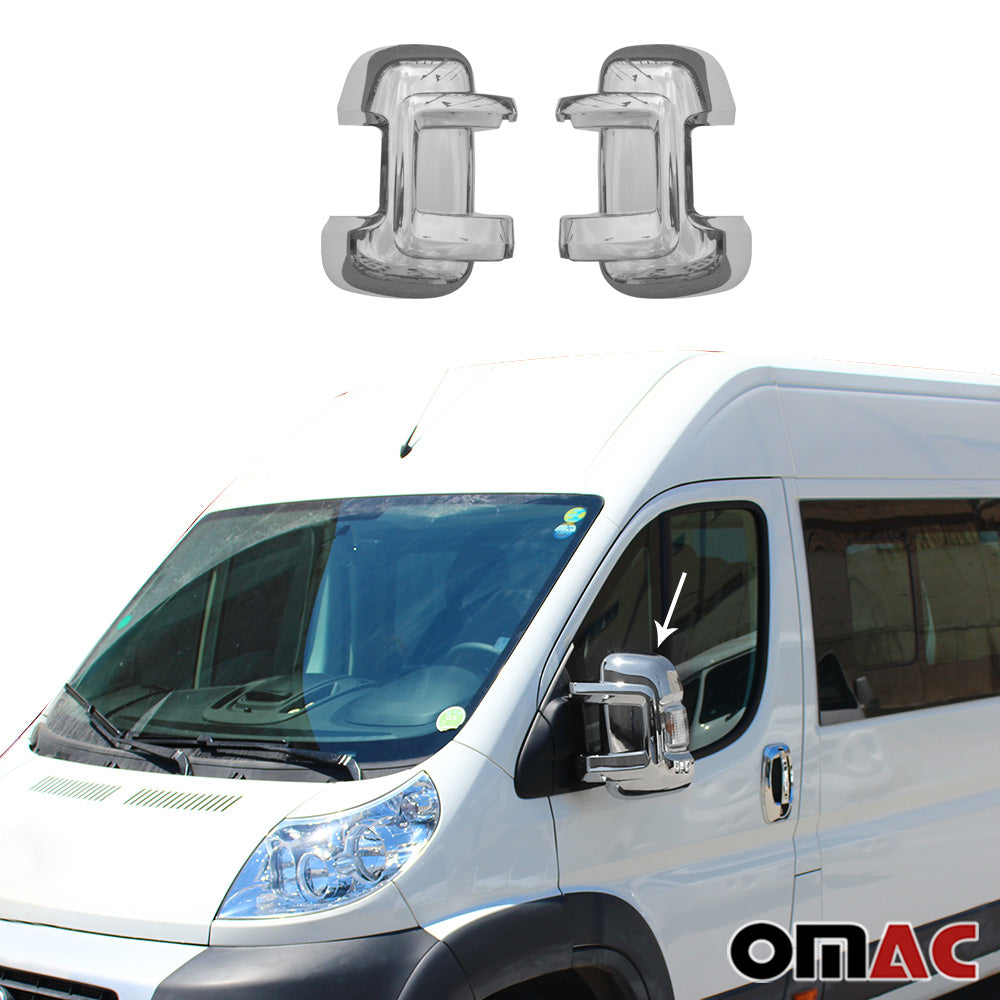 Fits RAM Promaster 2014-2020 Chrome Side Mirror Cover Cap 2 Pcs