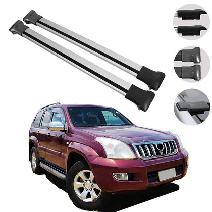 Roof Rack Cross Bars Luggage Carrier for Toyota Land Cruiser Prado J120 2003-09 - Omac Shop Usa - Auto Accessories