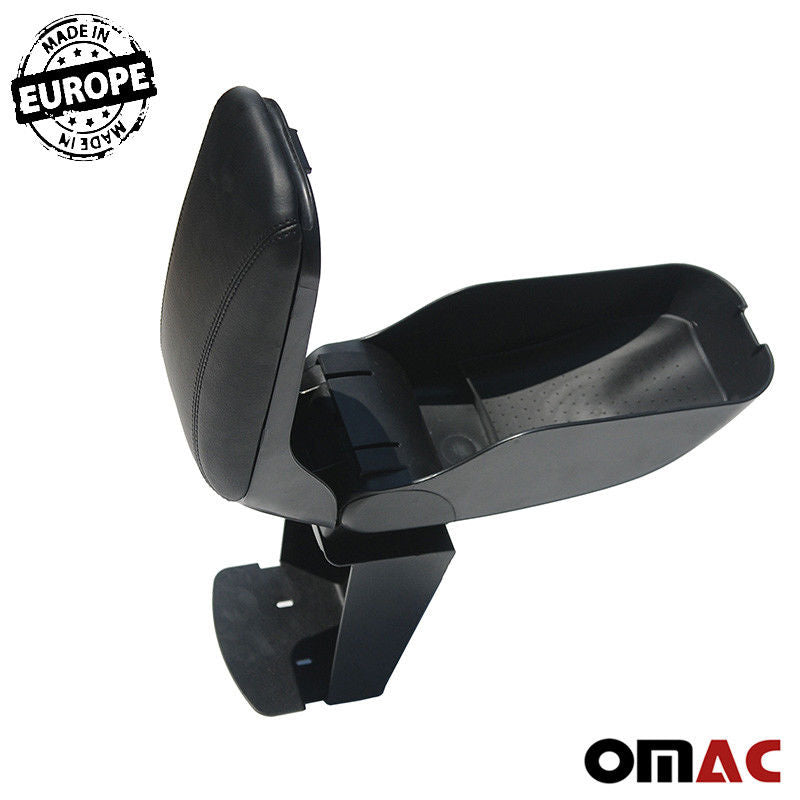 Armrest Sliding Center Console Black Leather For Ford Transit Connect 2010-2013