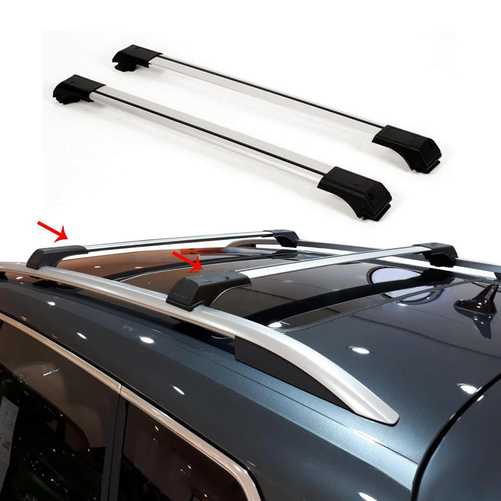 Roof Rack Cross Bars Luggage Carrier Silver for Ford Transit Connect 2010-2013