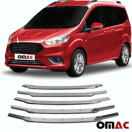 Dark Chrome Front Grill Trim S. Steel 5 Pcs.For Ford Transit Courier 2018-2020