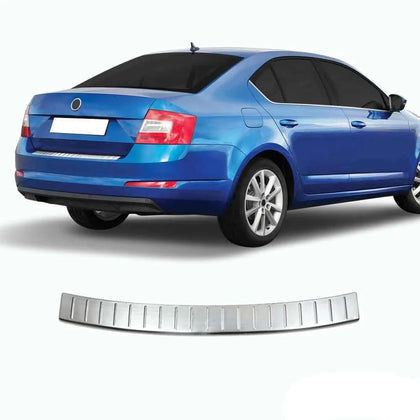 For Skoda Octavia 2013-2020 Rear Bumper Guard Trunk Sill Cover Brushed S.Steel
