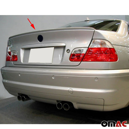 Omac usa - BMW 3 SERIES E46 Sedan 2000-2006 Rear Trunk Spoiler Top Wing Primed Unpainted - Omac Shop Usa - Auto Accessories