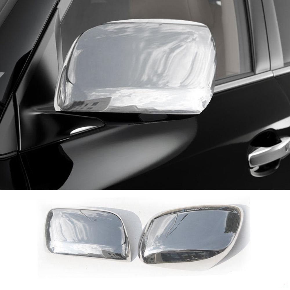 Fits Lexus LX 570 2008-2015 Stainless Steel Chrome Side Mirror Cover Cap 2 Pcs