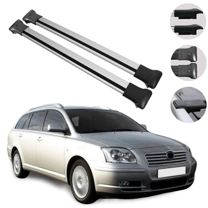 Roof Rack Cross Bars Luggage Carrier Silver for Toyota Avensis	Wagon 2003-2009