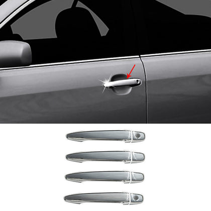 Fits Toyota 4 Runner 2003-2009 Chrome Side Door Handle Cover S.Steel 8 Pcs