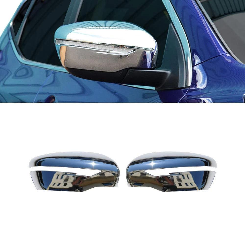 Fits Nissan Rogue 2014-2020 Chrome Side Mirror Cover Cap 2 Pcs