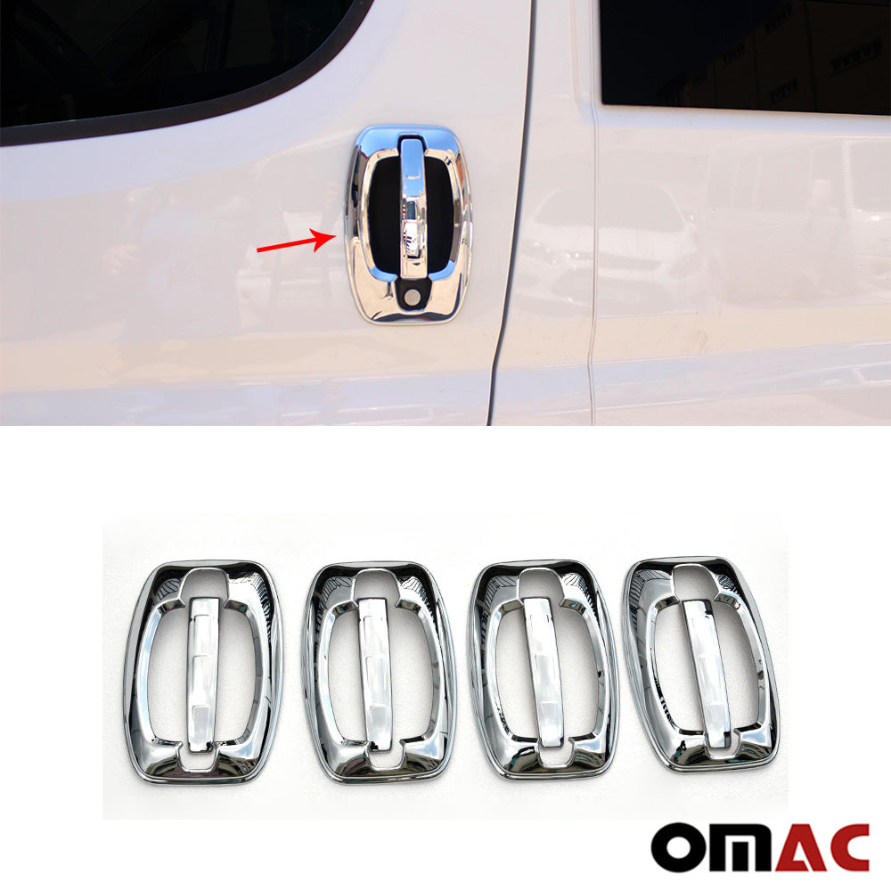 Fits RAM Promaster 2015-2020 Chrome Door Handle Cover Protector Trim 8 Pcs
