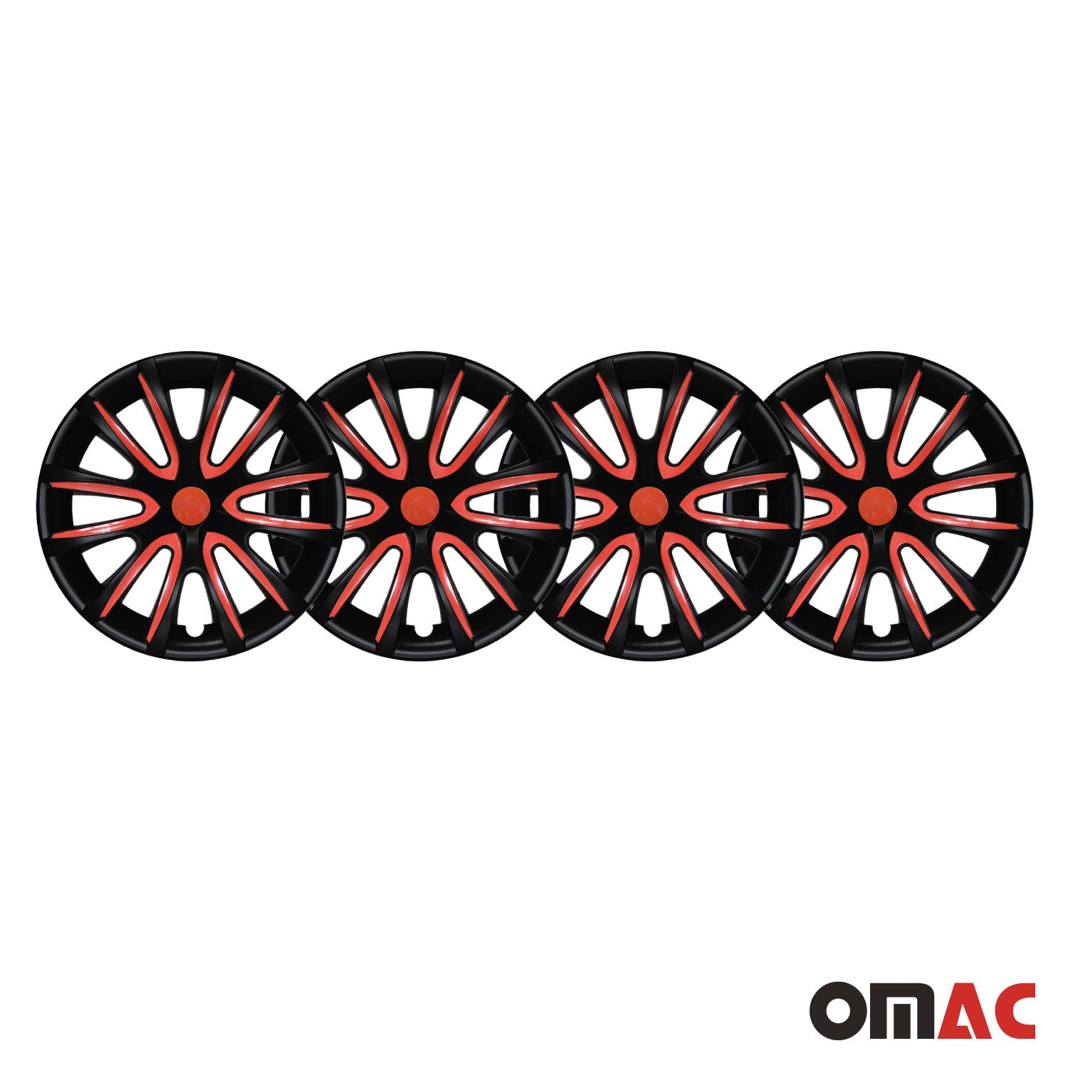 "16"" Inch Hubcaps Wheel Rim Cover Matt Black with Red for Chevrolet Impala Set"