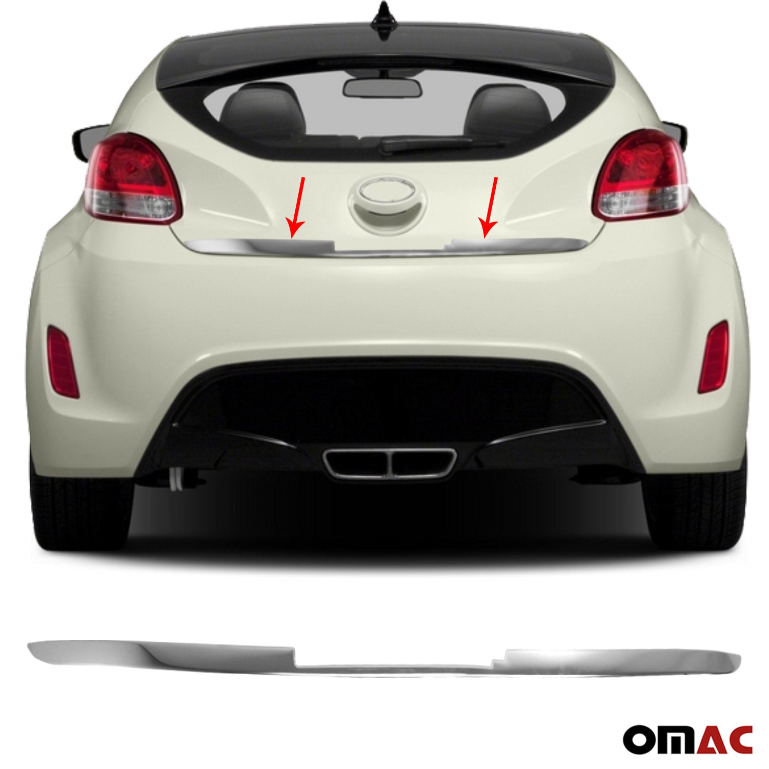 Chrome Rear Door Trunk Lid Protect Cover Trim for Hyundai Veloster 2011-2017
