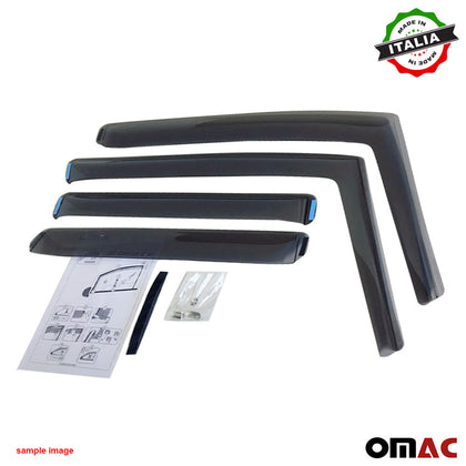 Omac usa - Window Visor Vent Sun Shade Rain Guard 4pcs for BMW 3 Series Sedan F30 2013-2018 - Omac Shop Usa - Auto Accessories