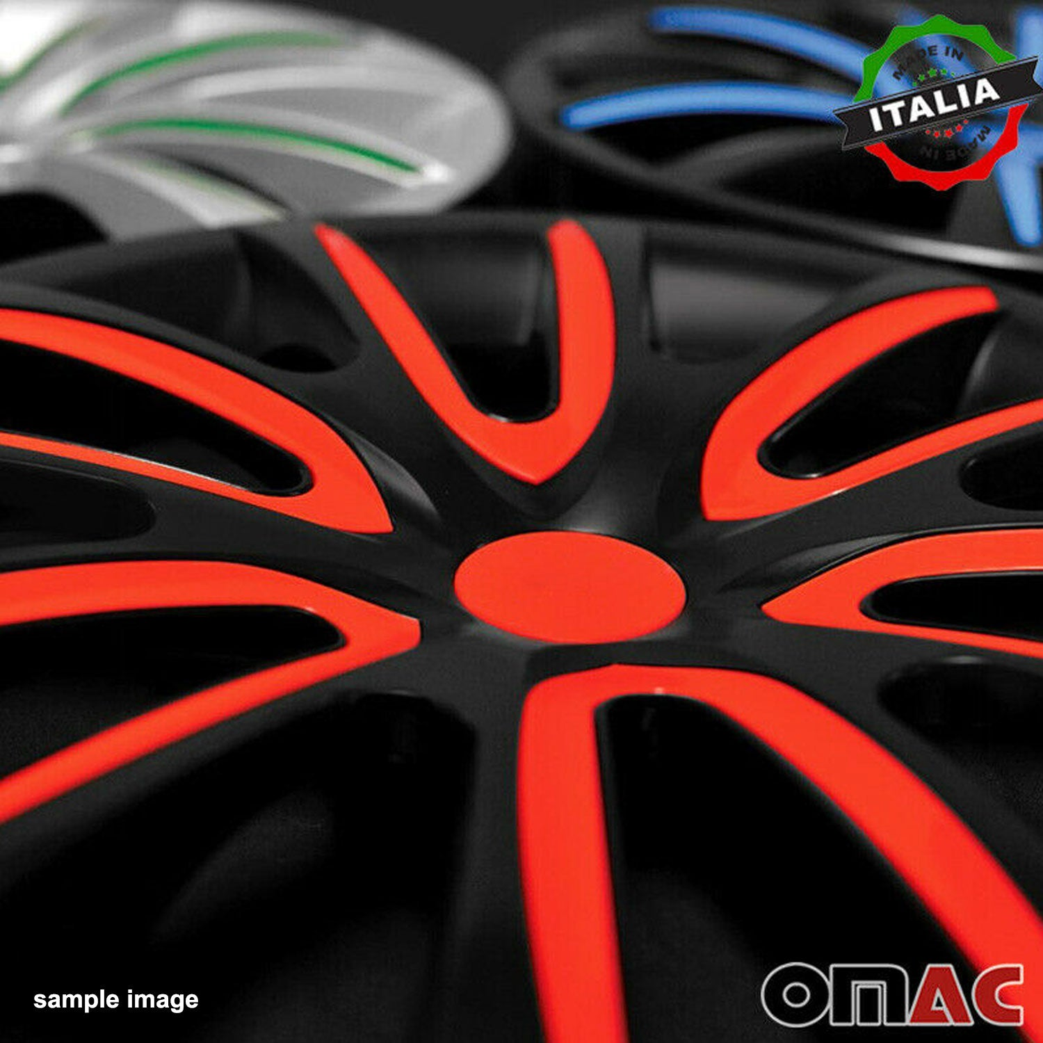 "16"" Inch Hub Cap Wheel Rim Cover Matt Black with White for Kia Optima 4pcs Set"