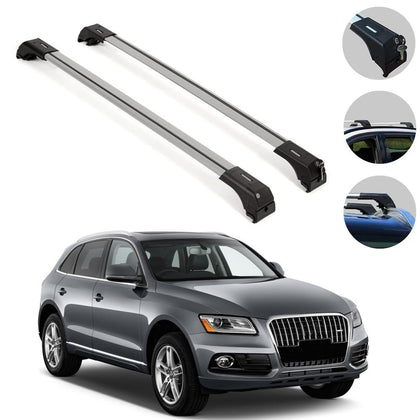 Roof Rack Cross Bars Luggage Carrier Silver for Audi  SQ5 2009-2017