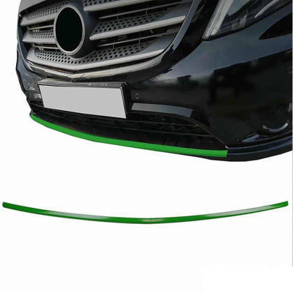 Fits Mercedes Metris 2016-2019 Green Chrome Front Lip Diffuser Streamer Steel Omac Shop Usa - Auto Accessories