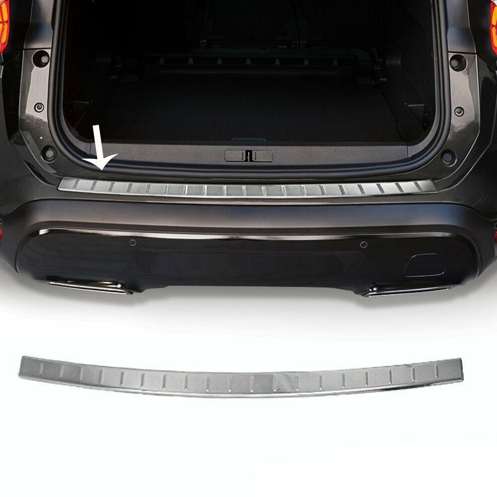 Chrome Rear Bumper Guard Trunk Sill Protector Brushed For Citroen C5  2018-2021