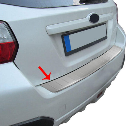 Fits Subaru XV 2013-2015 Chrome Rear Bumper Guard Trunk Sill Protector Brushed Omac Shop Usa - Auto Accessories