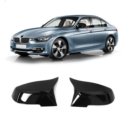 ABS Piano Black Side Mirror Cover Cap 2 Pcs Fits BMW 3 Series F30 2012-2019