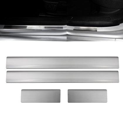 Fits Ford Focus 1998-2005 Chrome Door Sill Plate Stainless Steel 4 Pcs