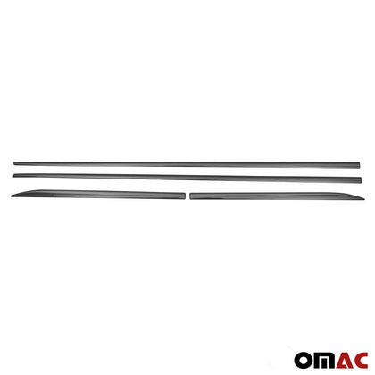 Fits BMW X1 2016-2019 Chrome Side Door Trim Streamer Guard S.Steel 4 Pcs Omac Shop Usa - Auto Accessories